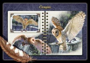HERRICKSTAMP NEW ISSUES ST. THOMAS Owls S/S
