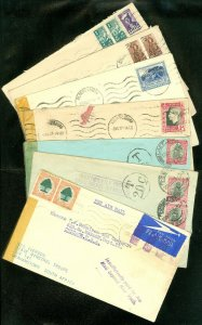 EDW1949SELL : SOUTH AFRICA 7 interesting covers including Censored & Postage Due