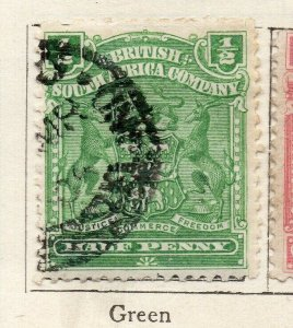 Rhodesia 1898 Early Issue Fine Used 1/2d. NW-11478