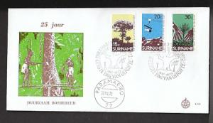 Suriname 399-401 Trees 1972 U/A FDC