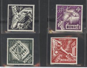 Monaco C36-C39 Mint VF LH 1952 Olympics