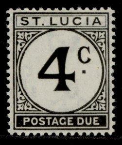 ST. LUCIA GVI SG D8, 4c black, M MINT.