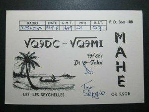 5696 Amateur Radio QSL Card Les Iles Seychelles