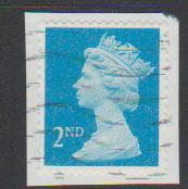 GB QE II Machin SG U2963 - 2nd brt blue -  M11L - Source  T