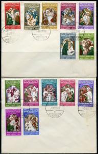 JORDAN 1966  SCPTT# 531/31M CHRISTMAS SET ON COVER