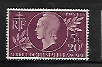 FRENCH WEST AFRICA, B1, MINT HINGED HINGE REMNANT, RED CROSS ISSUE