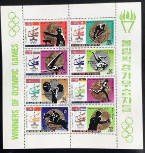 North Korea DPRK #1997a CTO S/S CV$12.00 Summer Games Moscow Winners