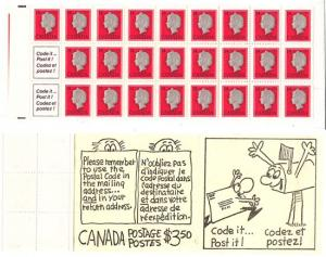 Canada - 1978 14c Complete Booklet w. Red Wedge #BK79d USC $30.