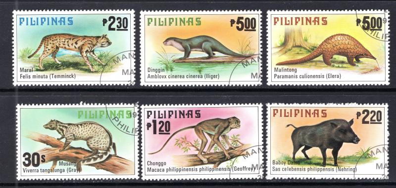 Philippines 1403-1408 Mammals CTO NH VF