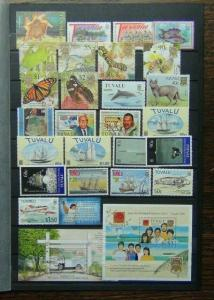 Tuvalu Range of Commemorative issues + 2 Miniature Sheets Commercially Used