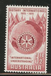 AUSTRALIA Scott 278 MNH** 1955 Rotary International stamp