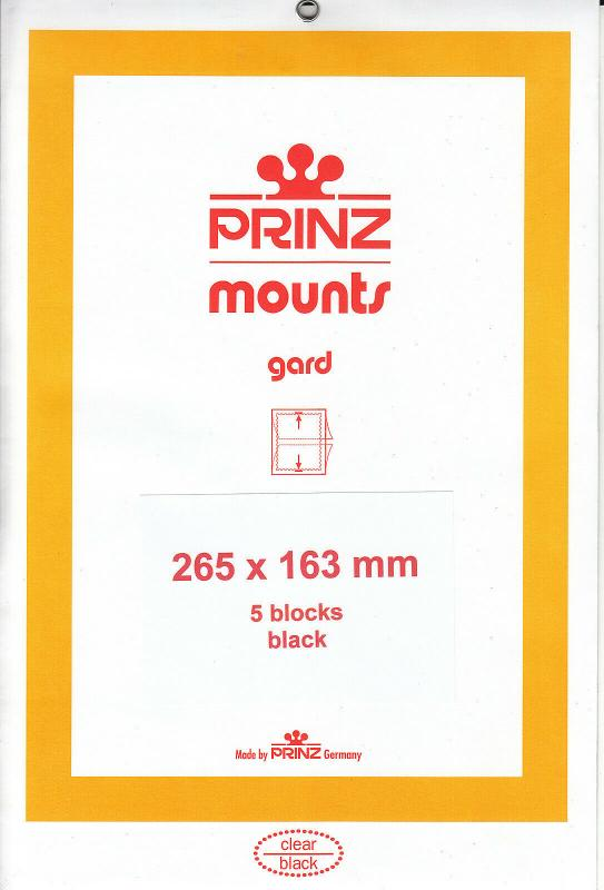 PRINZ BLACK MOUNTS 265X163 (5) RETAIL PRICE $13.50