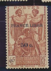 Somali Coast (Djibouti) Stamp Scott #223, Mint Never Hinged, With Tab/Selvage...