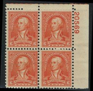 US Scott 711 Plate Block of 4! MNH! #20569