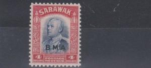 SARAWAK  1945  S G 143  $4  BLUE & SCARLET   MH
