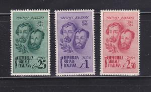Italian Social Republic 32-34 Set MHR Bandiera Brothers B