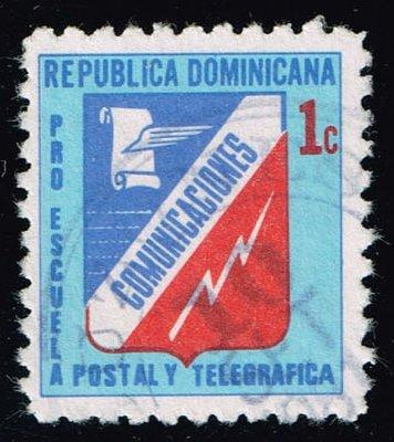 Dominican Rep. #RA53 Communications Emblem; Used (0.25)