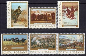 Romania 1977 Independence Anniversary Complete Mint MNH Set SC 2718-2722