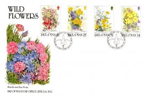 Isle of Man, Worldwide First Day Cover, Flowers