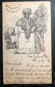 1899 New Orleans LA USA Postcard Cover To St Gallen Switzerland Praline Woman