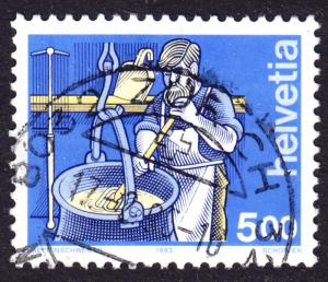 Switzerland Scott 848  VF used with a beautiful SON cds.