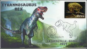 19-223, 2019, Tyrannosaurus Rex, Pictorial Postmark, Event Cover, Fayetteville G