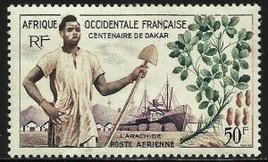 French West Africa Air Mail 1958 Scott# C26 MH