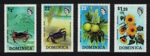 Dominica Crabs Fruit Sunflower Flora and Fauna 4v SG#389-392