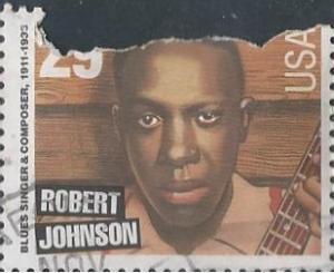 US 2857 (used filler) 29¢ Robert Johnson (1994)