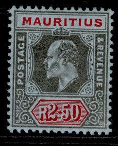 MAURITIUS EDVII SG193, 2r.50 black & red/blue, M MINT. Cat £30.