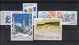 French Andorra- 1991-1993 Europa issues Mint NH (Catalog Value $22.35)