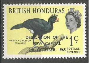 BRITISH HONDURAS, 1966, MNH 1c, Overprinted, Scott 195