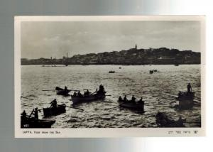 1929 Jaffa Palestine Real Picture Postcard Cover to Czechoslovakia View from Sea