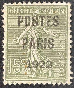 France #??? A20 Sower - Preoblitere 31 ??? Overprint POSTES PARIS 1922 [$060]
