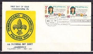 Philippines, Scott cat 1019. 4th Scout National Jamboree o/p. First day cover. ^
