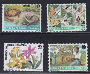 Equatorial Guinea #  93-96, Nature Conservation, NH, 1/2 Cat.