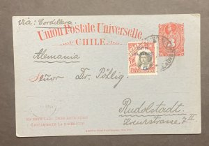 O) 1910 CHILE, ISLAS DE JUAN FERNANDEZ, VIA CORDILLERA, COLUMBUS 5c in blue, CHR