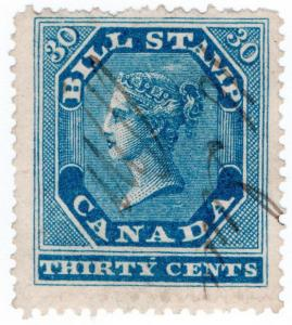 (I.B) Canada Revenue : Bill Stamp 30c