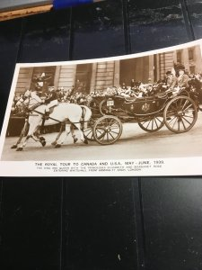 GB !939 B&W Post Card The Royal Tour To Canada and USA May-June 1939 WarEffort