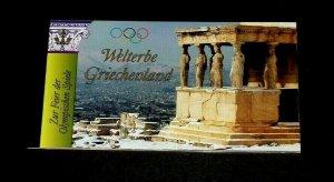 U.N. 2004, VIENNA #352, WORLD HERITAGE, GREECE, MNH, PRESTIGE BOOKLET, LQQK