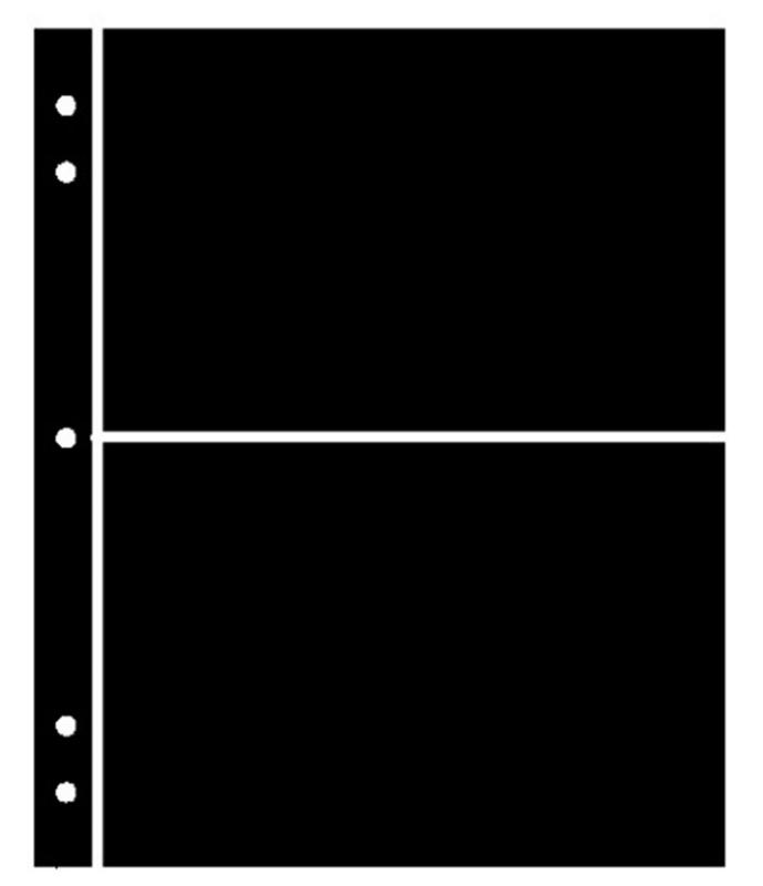 25 SUPERSAFE (SHOWGARD) 2 POCKET BLACK STOCK SHEETS 5 PACKAGES OF 5 DOUBLE SIDED