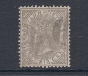 Ceylon Sc 73 used. 1872 96c olive gray QV,top value to set,  light cancel, sound