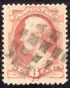 US Stamp #186 6c Pink Lincoln USED SCV $22