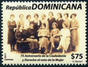 HERRICKSTAMP NEW ISSUES DOMINICAN REPUBLIC Women's Citizenship & Voting
