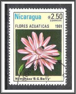 Nicaragua #1119 Aquatic Flowers CTO NH
