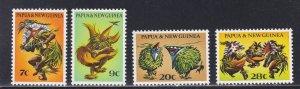 Papua New Guinea # 336-339, Masked Dancers, NH, 1/2 Cat.,
