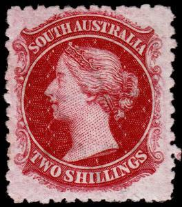 South Australia Scott 74 (1876) Mint H VF, CV $50.00 M