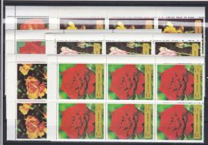 Fujeira Roses Mint Never Hinged Stamps Blocks Ref 27802