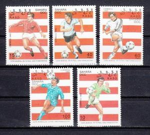 Sahara, 1993 Cinderella issue. World Cup Soccer set.