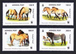 Mongolia WWF Przewalski's Horse 4v SG#2861-2864 MI#3122-3125 SC#2440 a-d